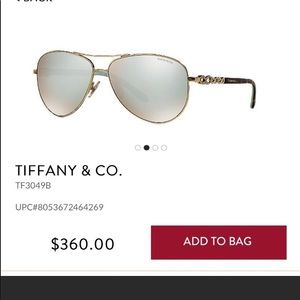 Tiffany's sunglasses